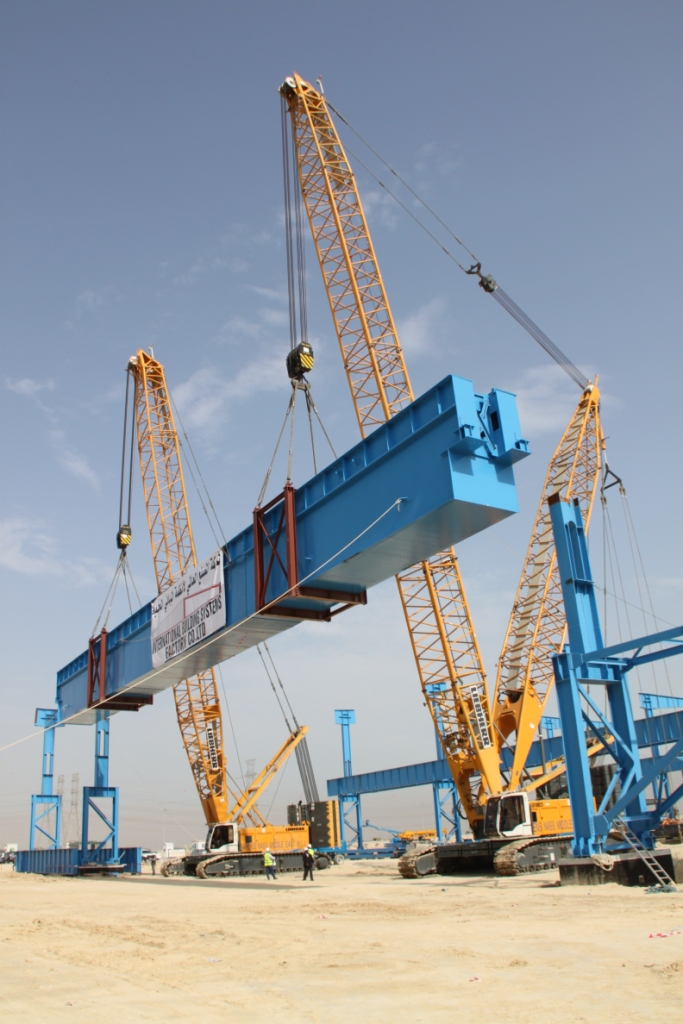 First action in Saudi Arabia: tandem lifting of a 200T girder